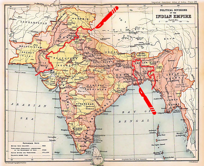 Indien tar plats i rymden
