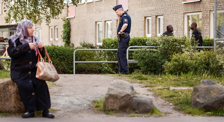 Brottsplats poliskaren
