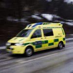Ambulans förde mannen till sjukhus i Gävle
