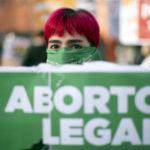 Demonstration för rätten till abort, Buenos Aires, 2020.