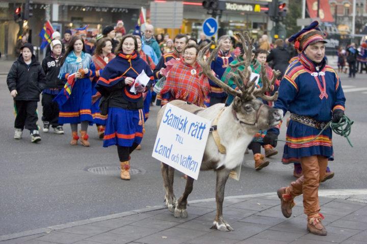 Samer som protesterar i Stockholm.