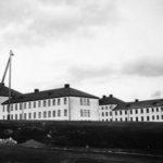 Exteriör av Vipeholms sjukhus i Lund 1936.