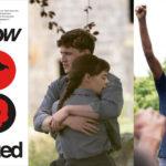 Tre bilder sida vid sida. En föreställande bokomslaget till Radicalized av Cory Doctorow, en föreställande Conell och Marianne från serien Normala människor i en omfamning, och en föreställande en svart kvinna från filmsviten Small Axe med en knuten näve i luften.