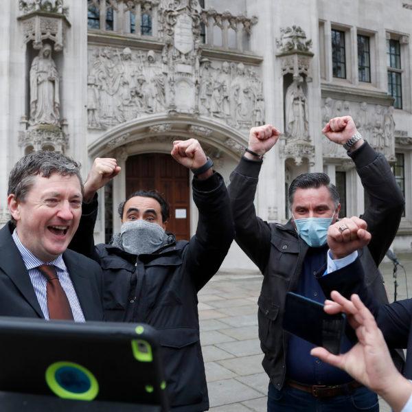 Uber-förare jublar efter vinst i Brittiska högsta domstolen