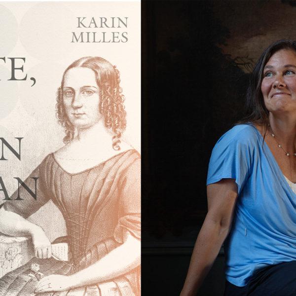 Omslaget till boken Jag måste, när ingen annan vill, där ett tecknat porträtt av Sophie Sager syns, samt porträttbild på författaren med blå t-shirt.