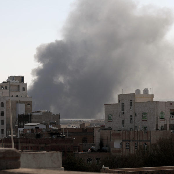 Brand i Jemen