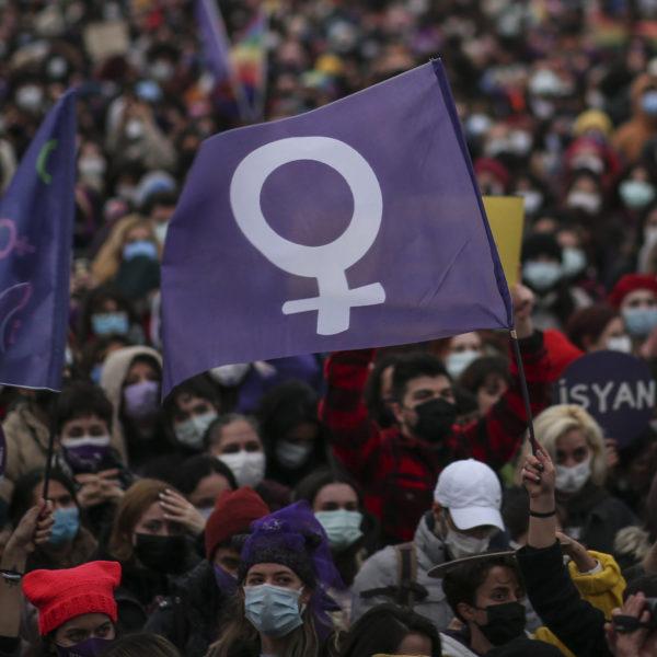 Demonstration i Istanbul, Turkiet