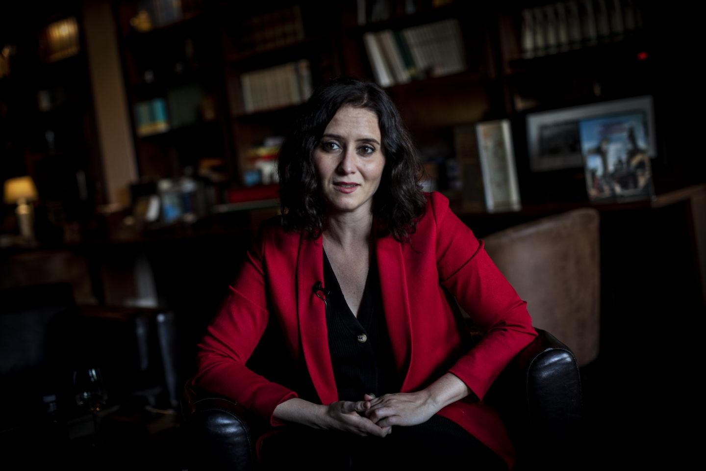 Isabel Díaz Ayuso, ledare för det konservativa högerpartiet Partido Popular
