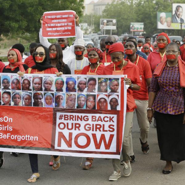 Demonstration mot kidnappningar i Nigeria