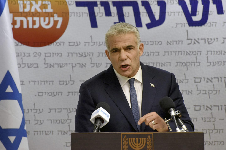 Den israeliske oppositionspolitikern Yair Lpid