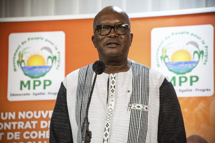 Burkina Fasos president Roch Marc Christian Kabore