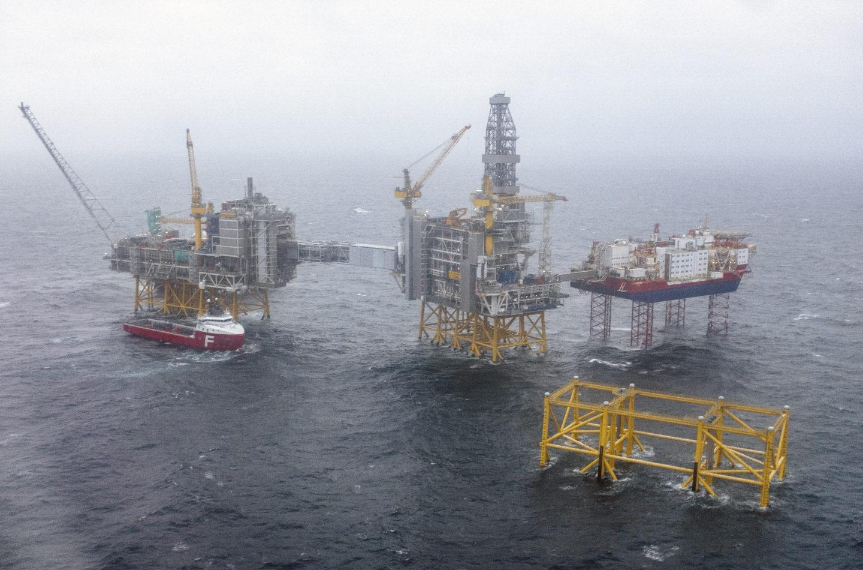 Norska oljefält i Nordsjön
