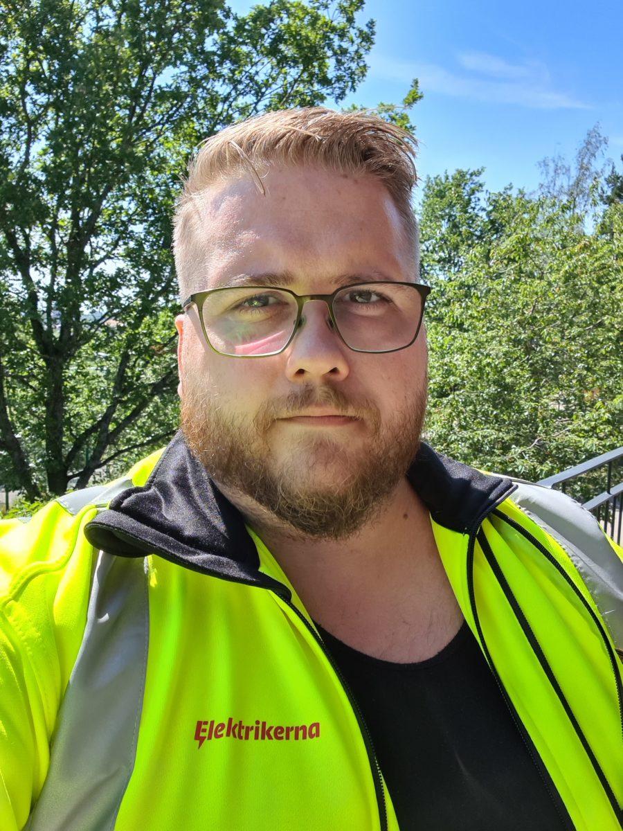 Joel Larsson, verksamhetskretsledare i region Mitt, Elektrikerna.