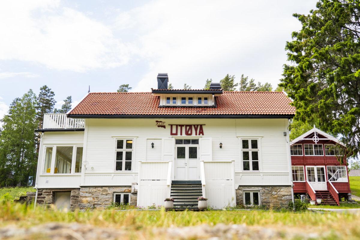 Huvudbyggnaden som är det första man möter när man ankommer Utøya.
