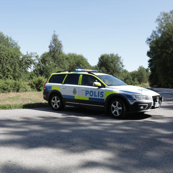 Polisinsats vid Hällbyanstalten i Eskilstuna