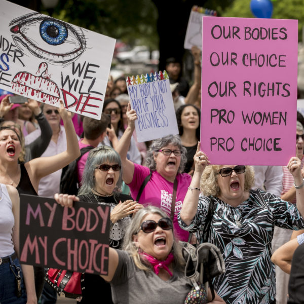 Protester för rätten till abort i Texas, USA