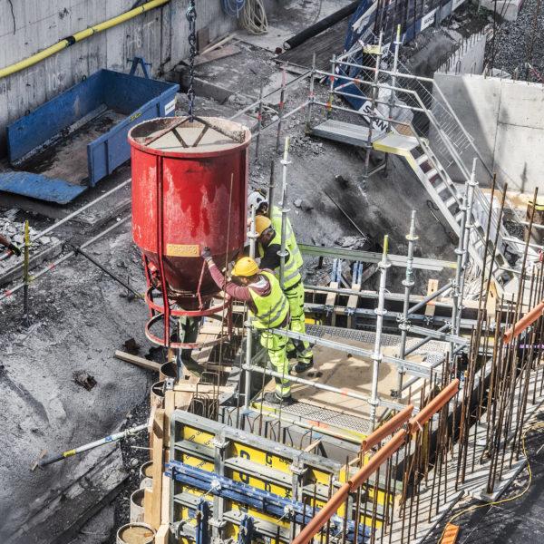 Byggnadsarbetare i Stockholm