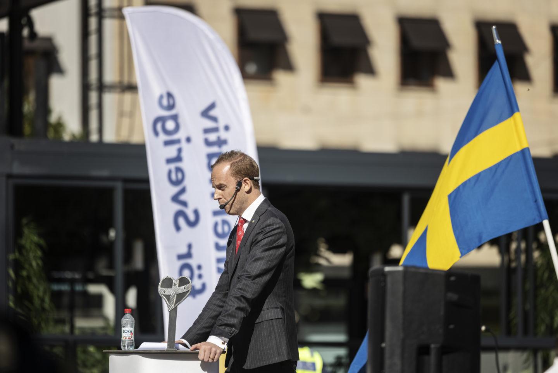 Alternativ för Sverige och Gustav Kasselstrand håller möte