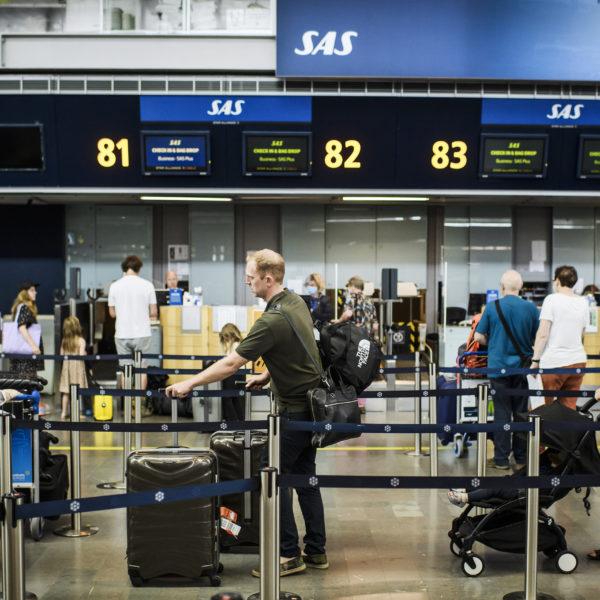 Incheckning på flygplatsen Arlanda