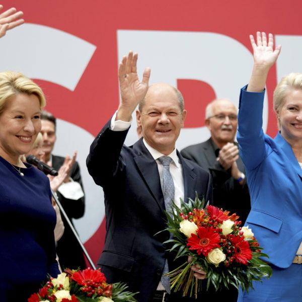 Tyska socialdemokraterna, SPD, vinner valet