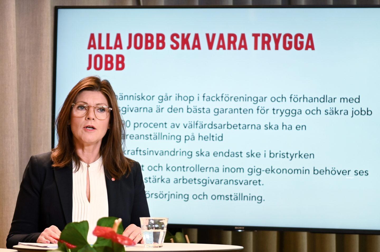 Arbetsmarknadsminister Eva Nordmark