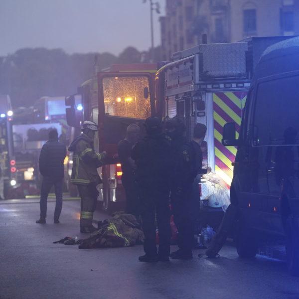 Räddningstjänsten efter explosion i Göteborg