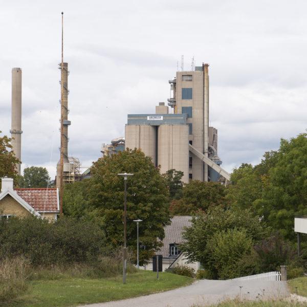 Cementas fabrik på Slite Gotland