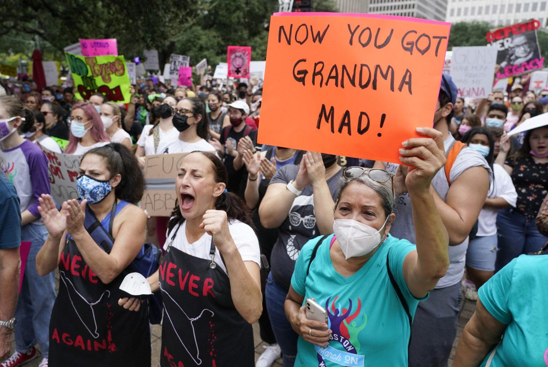 Demonstration mot Texas abortlag i Austin