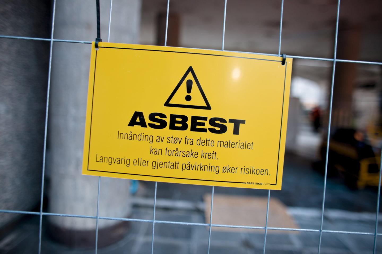 Varning för asbest