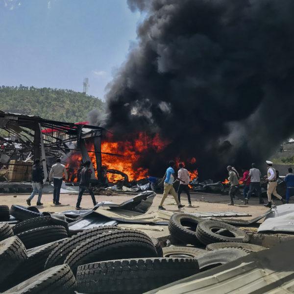 Flyganfall mot Tigray